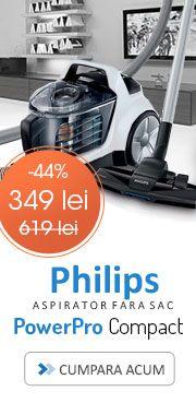aspiratoare/aspirator-fara-sac-philips-power-pro-compact-fc847992-1.5-l-tub-teles