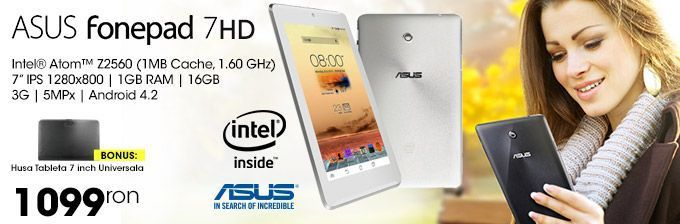 Tableta Asus Fonepad Z2560 16GB 3G Android 4.2 White