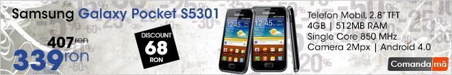 Telefon Mobil Samsung Galaxy Pocket S5301 Black