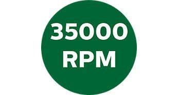 Până la 35000 rpm