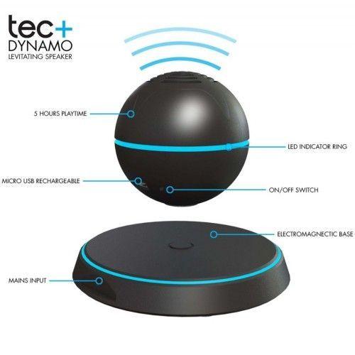 Boxa cu levitatie magnetica si conectare Bluetooth TecPlus Dynamo, TPDYNA 1