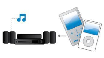 Intrare audio pentru a vă bucura de muzica de pe iPod/iPhone/player MP3