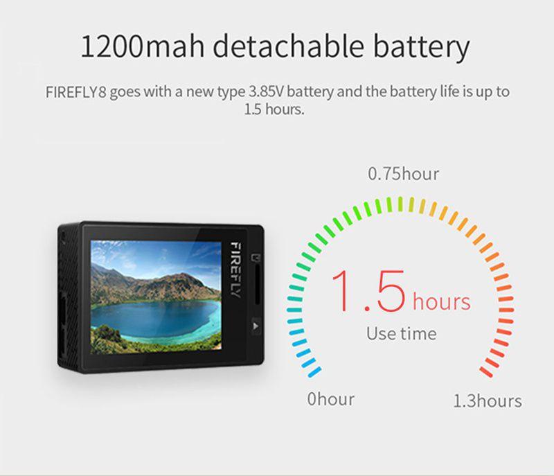 Camera Video Sport Hawkeye Firefly 8 Black Sony IMX117 12Mpx 2K WIFI