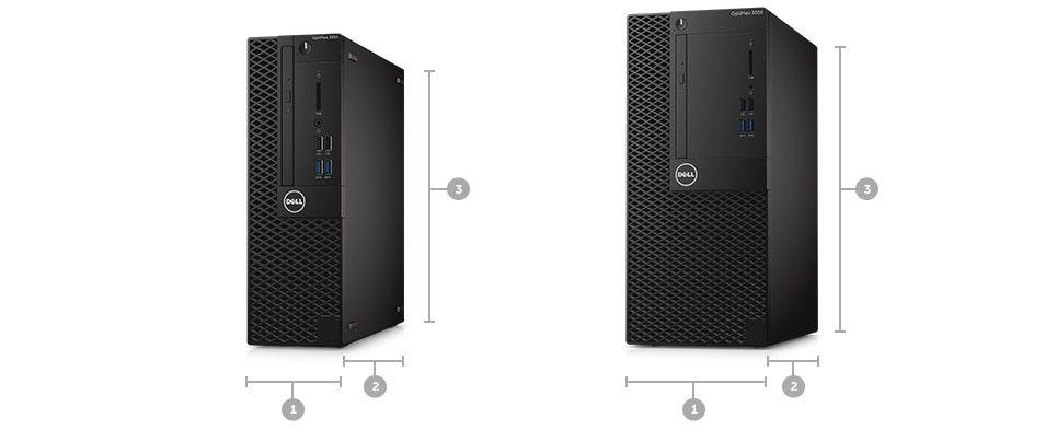Desktopul OptiPlex 3050 – dimensiuni şi greutate