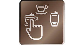 Prin simpla atingere a unui buton, poţi prepara o multitudine de specialităţi de cafea