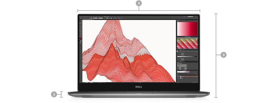 Laptop Dell Precision 5530 Intel Core Coffee Lake 8th Gen i7-8850H 1TB SSD  32GB nVidia Quadro P2000 4GB Win10 Pro UltraHD Tast  ilum  FPR