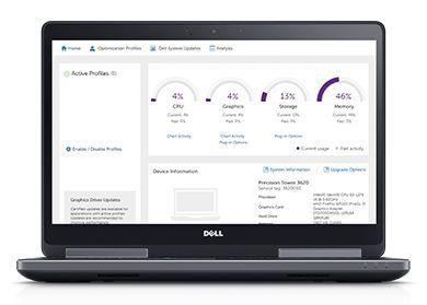 Staţia de lucru Precision 15 7520 – îmbunătăţiţi productivitatea cu ajutorul instrumentului Dell Precision Optimizer