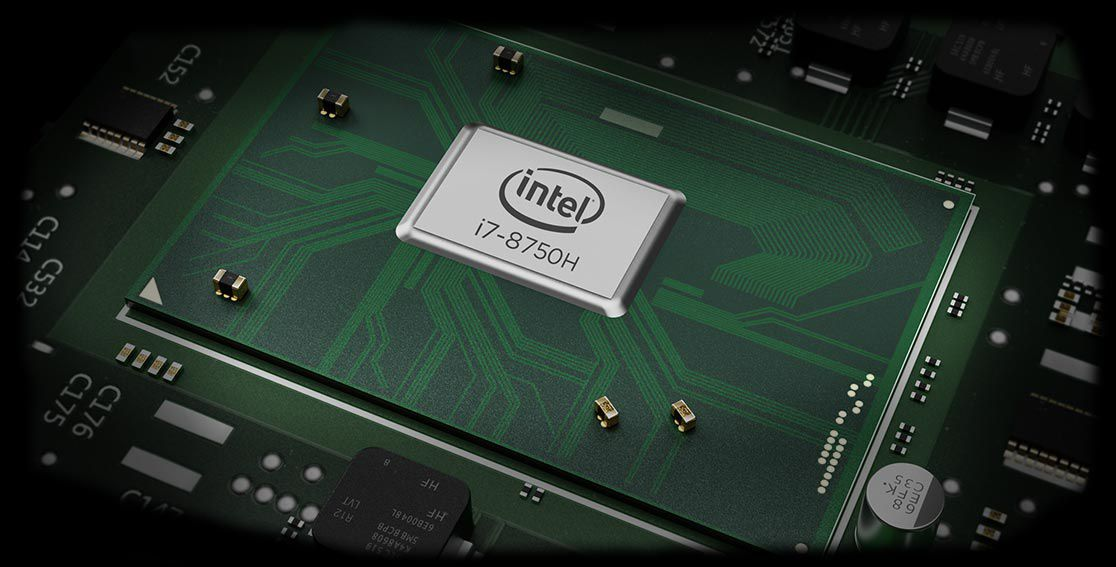 Lenovo Legion Y530 gaming laptop - close shot of processor