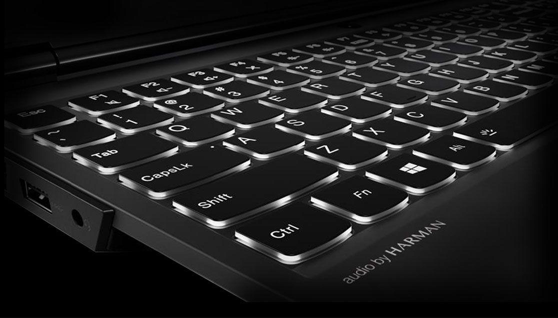 Lenovo Legion Y530 gaming laptop - close shot of keyboard