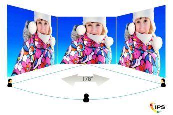 Afişajul AH-IPS oferă imagini uimitoare datorită unghiurilor largi de vizualizare