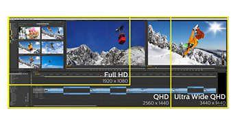 Imagini extrem de clare cu UltraWide QHD de 3440 x 1440 pixeli