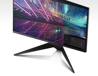 Monitorul pentru jocuri Alienware 25 AW2518HF – afişaj dinamic pe ecran