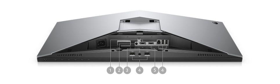 Monitorul pentru jocuri Alienware 25 AW2518HF – opţiuni de conectare