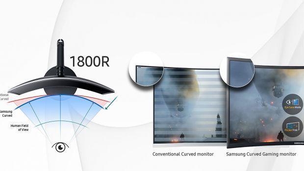Monitor Gaming LED 27 Samsung C27FG70FQU Quantum Dot Curbat 1 ms