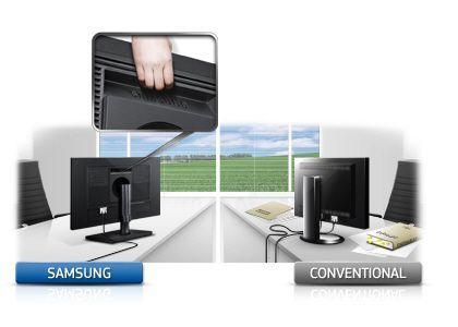 Menţineţi spaţiul de lucru la fel de eficient ca şi monitorul