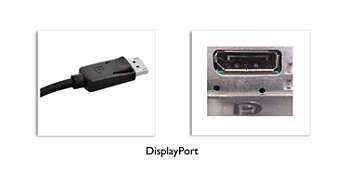 Conexiune DisplayPort pentru elemente vizuale maxime