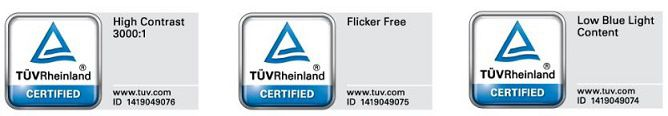 Certificare TÜV Rheinland, BenQ GW2470ML