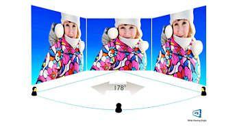 Tehnologie IPS pentru culori bogate şi unghiuri de vizualizare largi