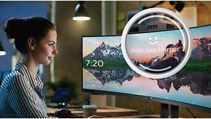 Conectează-te în siguranţă folosind camera web pop-up cu Windows Hello™