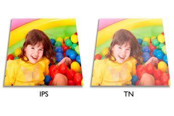 Tehnologie extralată IPS LED pentru acurateţea culorilor şi a imaginii