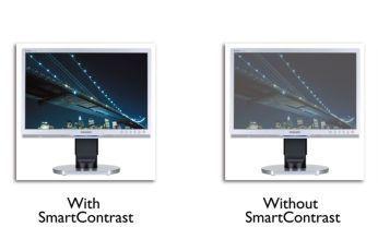 SmartContrast redă detalii negre mai bogate îmbunătăţite