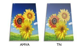 Afişaj cu LED AMVA pentru imagini vii, extralate şi contrast foarte ridicat