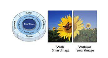 Presetări SmartImage pentru setări de imagine uşor de optimizat