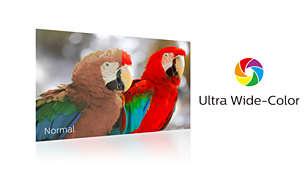 Gamă de culori mai largă Ultra Wide-Color pentru o imagine vie