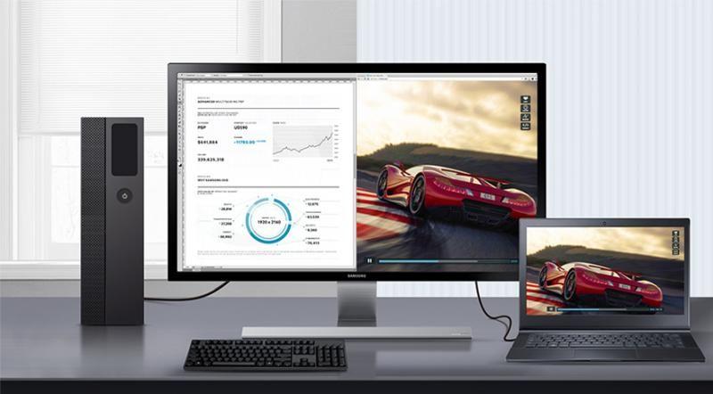 Utilizaţi un singur monitor UHD pentru a vedea 2 conţinuturi diferite
