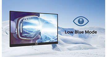 Mod LowBlue Mode pentru o productivitate care menajează ochii