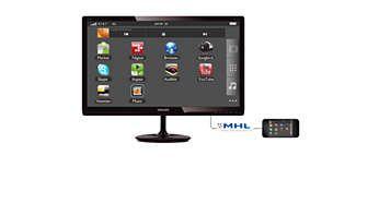 Tehnologie MHL pentru a vă bucura de conţinutul mobil pe un ecran mare