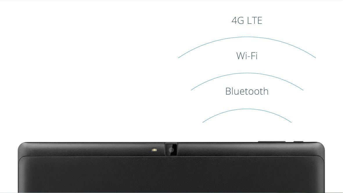 Tableta EAGLE 1068 iti ofera conexiune wireless oriunde te afli; modemul 4G iti garanteaza acces la internet chiar daca nu esti in raza unei retele Wi-Fi, iar conexiunea Bluetooth iti permite transferul usor de date.