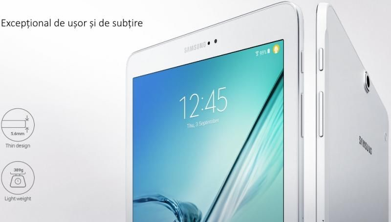 Tableta Samsung Galaxy Tab S2 9.7, Octa-Core (1.8GHz + 1.4GHz), 32GB + 3GB RAM, SM-T813 (Wi-Fi) Black