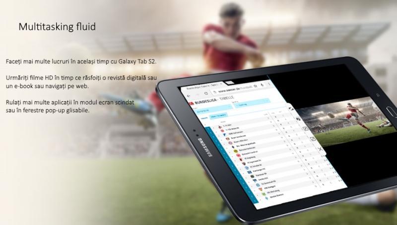 Tableta Samsung Galaxy Tab S2 9.7, Octa-Core (1.8GHz + 1.4GHz), 32GB + 3GB RAM, SM-T813 (Wi-Fi) Black 3
