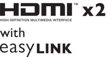 Două intrări HDMI şi EasyLink pentru conectivitate integrate