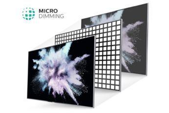Micro Dimming îmbunătăţeşte contrastul televizorului tău