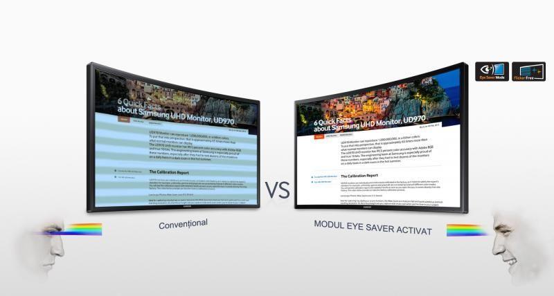 Protejează ochii pentru o experiență de vizualizare mai confortabilă