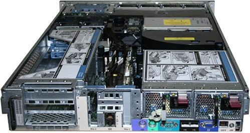 imagine 2 Server Refurbished HP ProLiant DL380 G5 2U 2x Intel Xeon E5420 32GB Ram DDR2 4x 146GB SAS CDROM RAID 2 surse redundante de 800W 2 placi de d1_2867