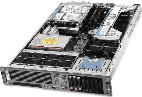imagine 4 Server Refurbished HP ProLiant DL380 G5 2U 2x Intel Xeon E5420 32GB Ram DDR2 4x 146GB SAS CDROM RAID 2 surse redundante de 800W 2 placi de d1_2867