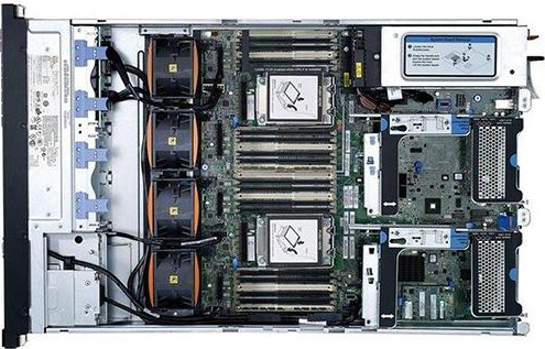 imagine 1 Server Refurbished IBM SYSTEM X3650 Rackabil 2U 2x Intel Xeon E5450 3.0Ghz 32GB Ram DDR2 2x 146GB SAS HDD 2 surse RAID 2 placi de retea d1_2894