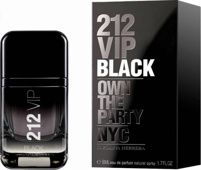 imagine 0 Apa de Parfum 212 VIP Black by Carolina Herrera Barbati 50 ml 8411061869406