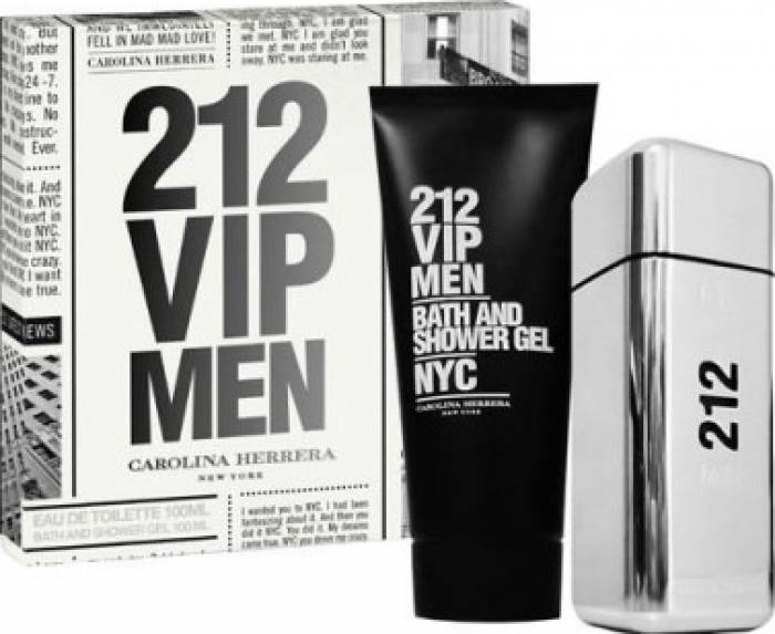 imagine 0 Apa de Toaleta 212 VIP Men 100ml + Shower Gel 100ml by Carolina Herrera Barbati 100ml+100ml pf_115404