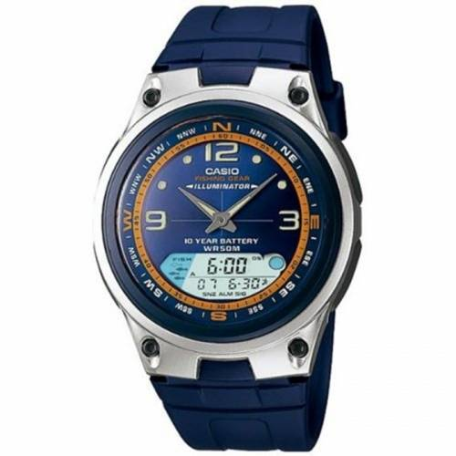 imagine 1 Ceas barbatesc Casio AW82-2AV Albastru Plastic Quartz areaw82-2av