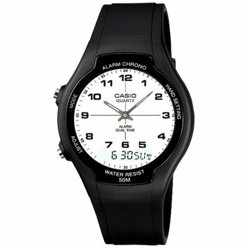 imagine 1 Ceas barbatesc Casio AW90H-7BV Negru Cauciuc Quartz areaw90h-7bv