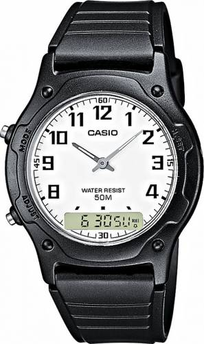 imagine 0 Ceas Barbatesc Casio Casual Negru Curea Resin aw-49h-7b