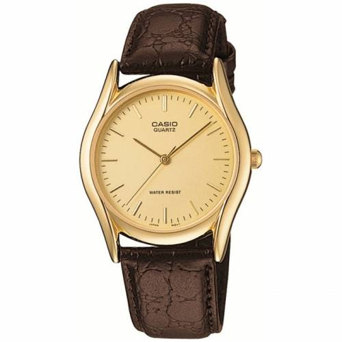 imagine 1 Ceas barbatesc Casio Core auriu Leather Quartz MTP1094Q-9A aremtp1094q-9a
