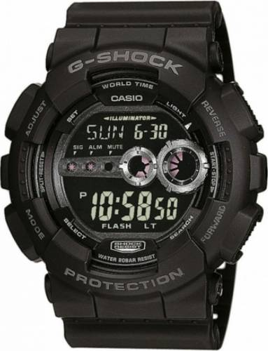 imagine 0 Ceas Barbatesc Casio G-Shock GD-100-1B Negru gd-100-1b