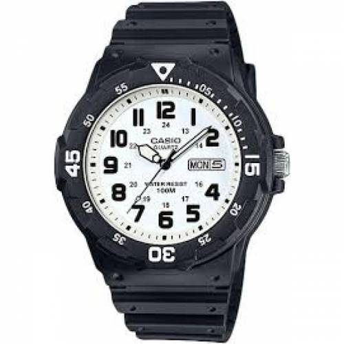 imagine 1 Ceas barbatesc Casio MRW200H7B Negru Rasina Quartz wwtmrw-200h-7b