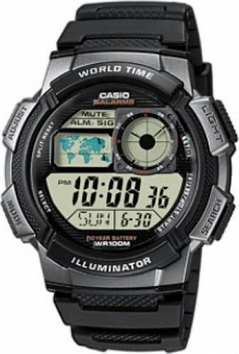 imagine 0 Ceas Barbatesc Casio Sports ae-1000w-1bvef Negru ae-1000w-1bvef