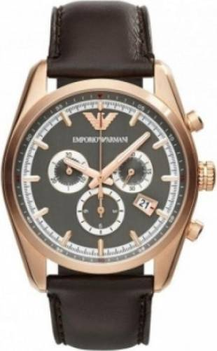 imagine 0 Ceas Barbatesc Emporio Armani AR6005 Brown-Gold armani_AR6005